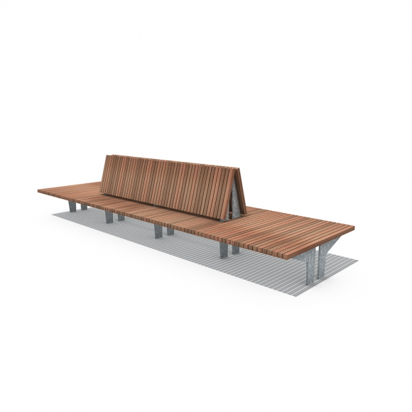 Olympic Wave Crosswise Benches