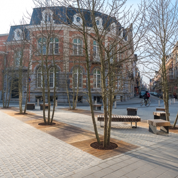 Straatmeubilair - Boomroosters CorTen, Leuven (BE)