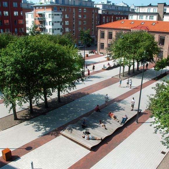 Straßenmöbel - Podium Inseln - Surf Inseln, Halmstad (SE)
