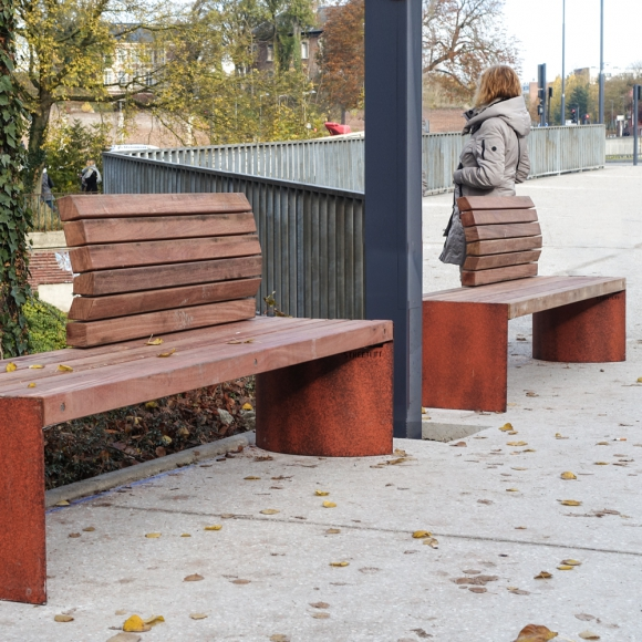 Solitude Benches in Two Tone CorTen