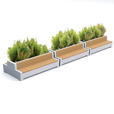 Solid Green Love Benches