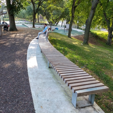 Solid Curved Benches