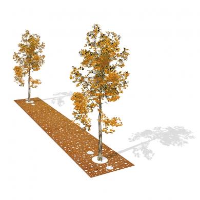 Tree Grille Strips CorTen